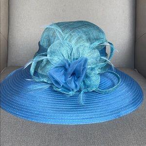 August Hats Sinamay Down Brim Church Derby Hat
